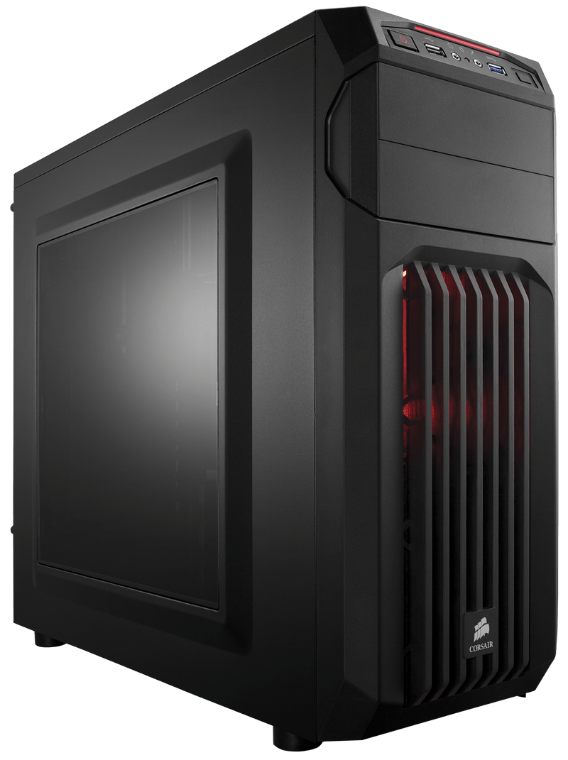 Carbide Series Spec 01 Red Led Mid Tower Gaming Case