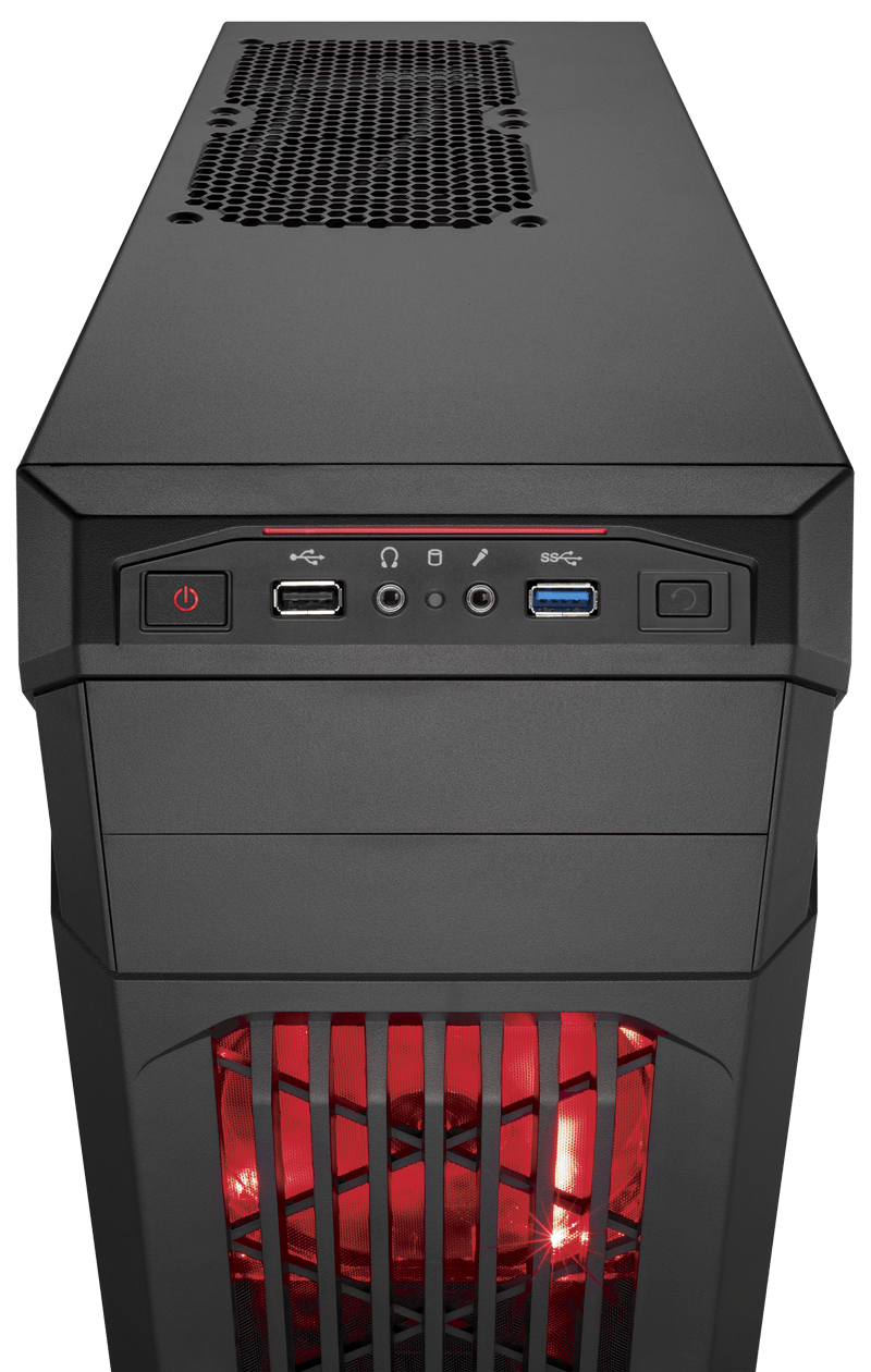 Corsair Carbide Series™ SPEC-01 Red LED Mid-Tower Gaming Case