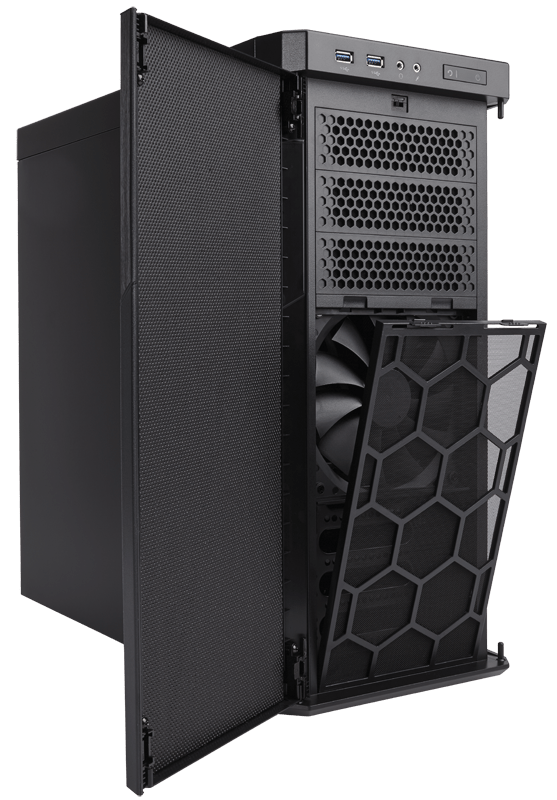 carbide series® 330r blackout edition ultra-silent mid-tower case