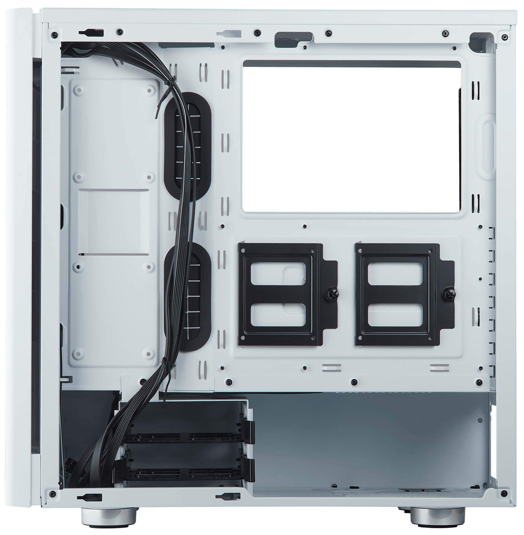 Carbide Series 275r Tempered Glass Mid Tower Gaming Case White Corsair Cases Wiring Diagrams Expansive Storage Space