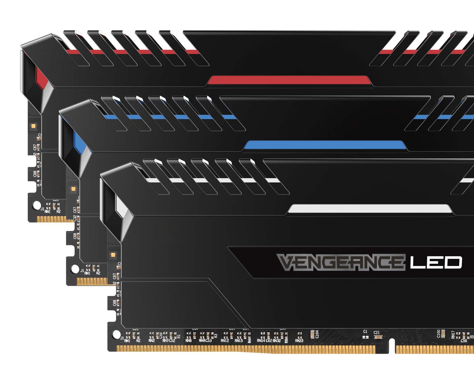 VENGEANCE® LED 16GB (2 x 8GB) DDR4 DRAM 3200MHz C16 Memory Kit - Red LED