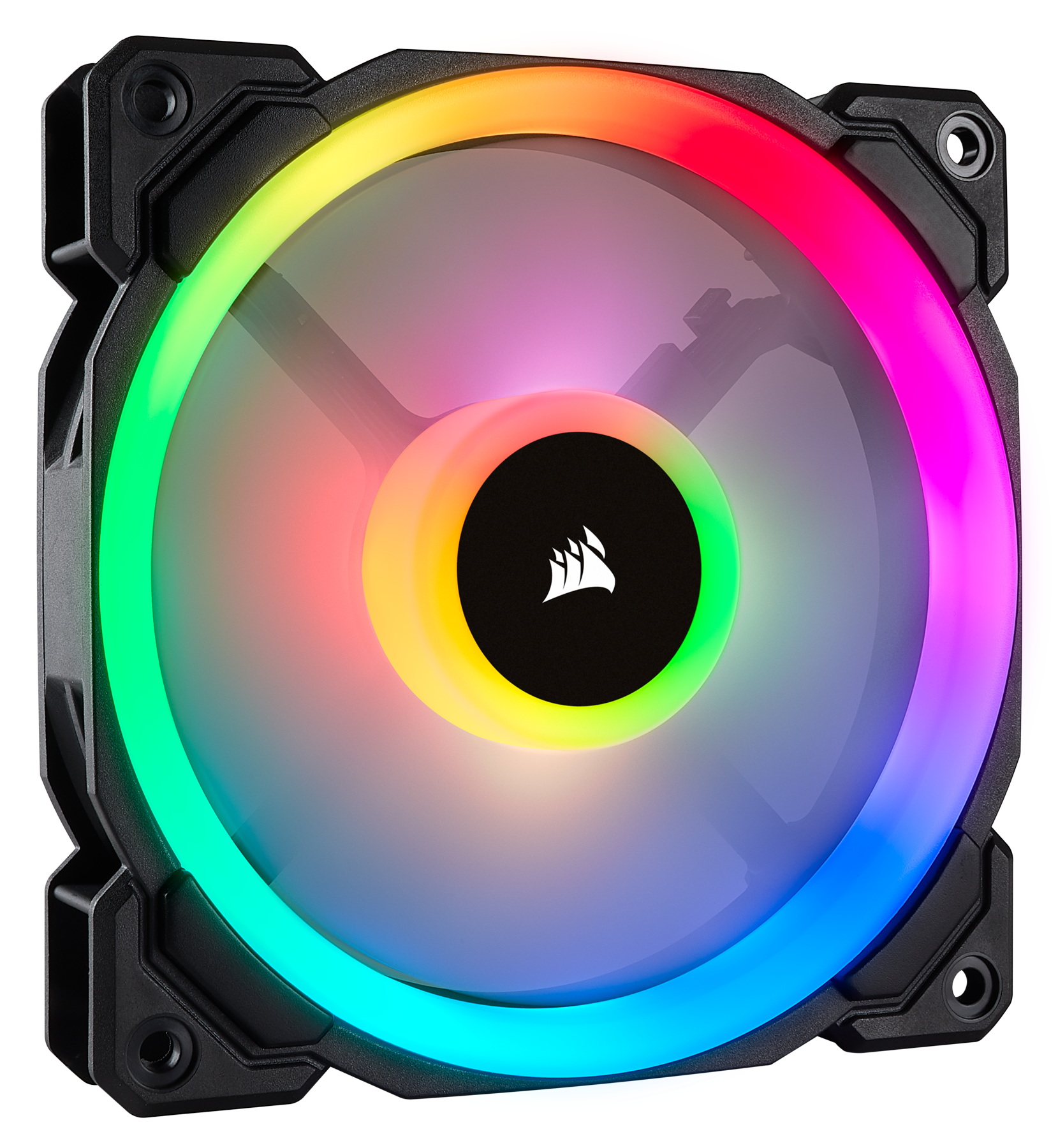 Ll120 Rgb 120mm Dual Light Loop Led Pwm Fan 3 Pack With The Tricolor Leds Can Be Mounted In Three Ways Through Made For Those Seeking Excellent Airflow Quiet Operation And Powerful Lighting Corsair Puts Your Pc Back