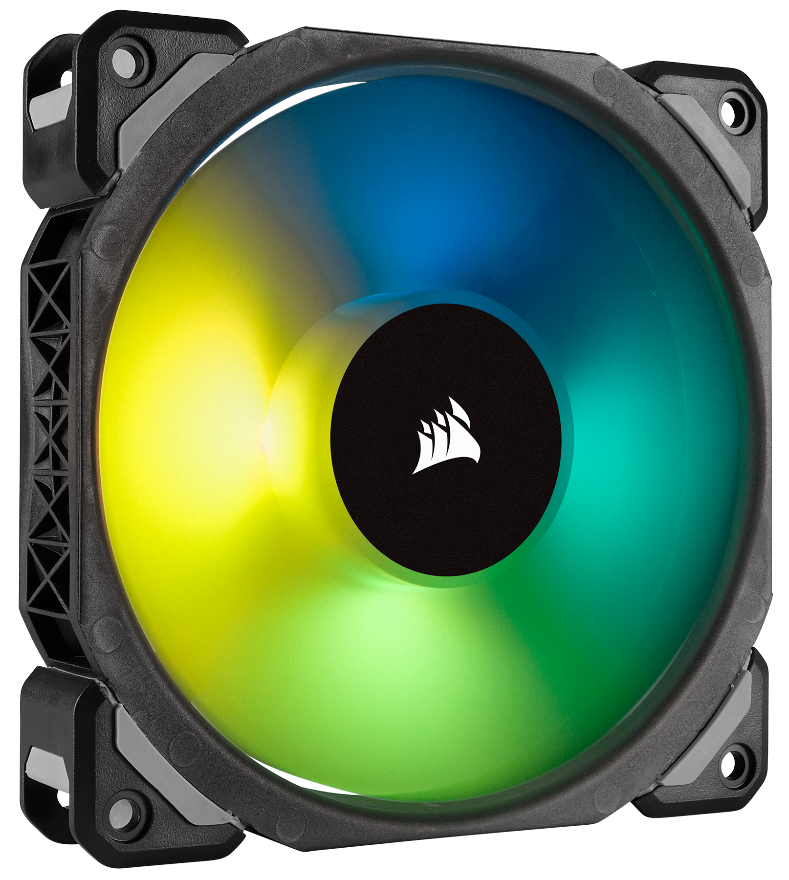 Ml120 Pro Rgb Led 120mm Pwm Premium Magnetic Levitation Fan 3 The Tricolor Leds Can Be Mounted In Three Ways Through Corsair Combines Unrivaled Performance And Low Noise Operation By Utilizing Bearing Technology With Vibrant