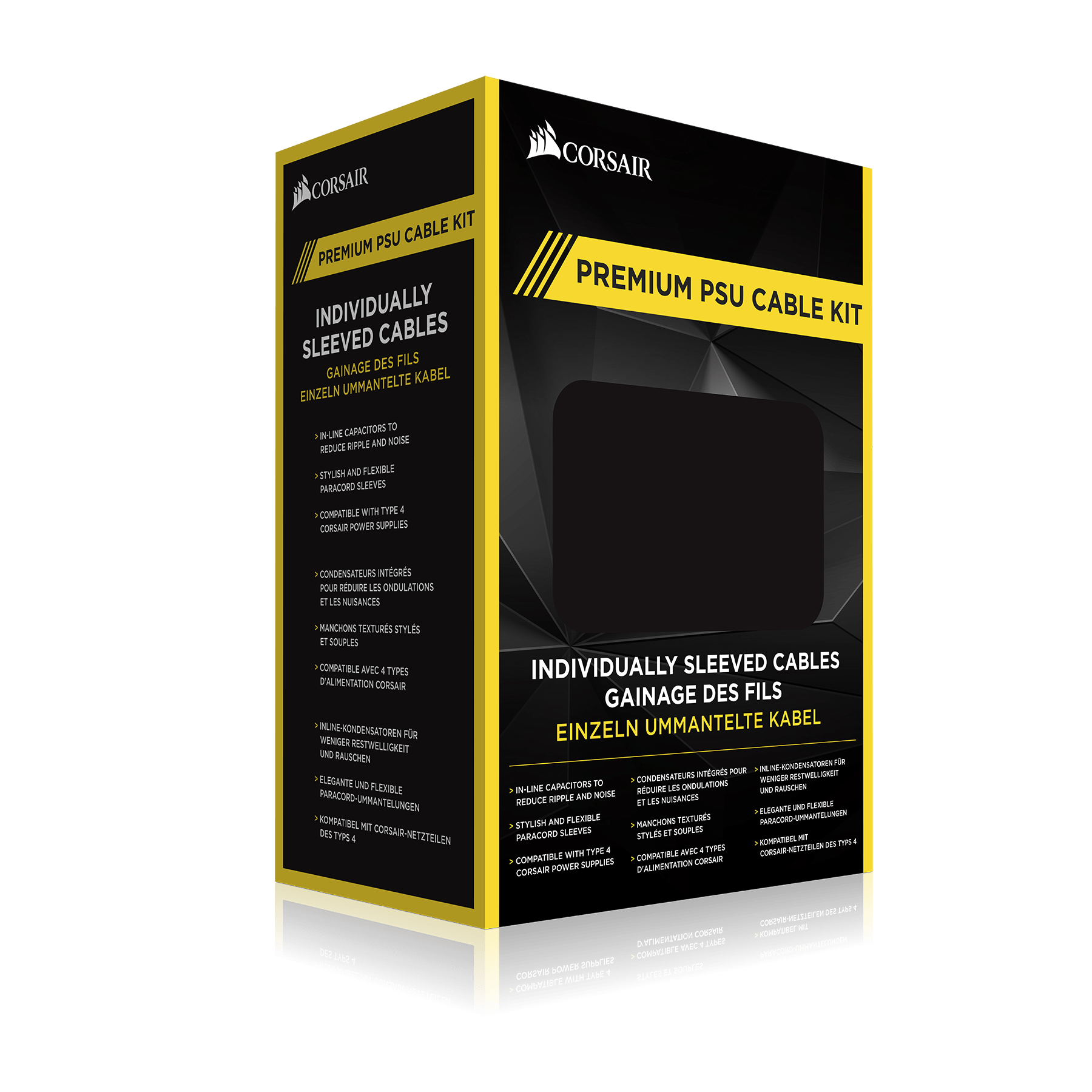 Premium Individually Sleeved PSU Cable Kit Pro Package, Type