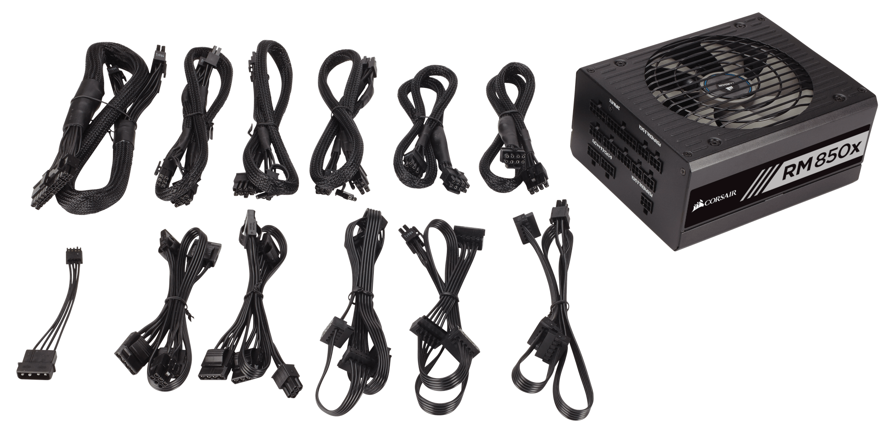 Rmx Series Rm850x 850 Watt 80 Plus Gold Certified Fully Modular Psu Wall Ac Capacitor Wiring Diagram Cable Set Installation