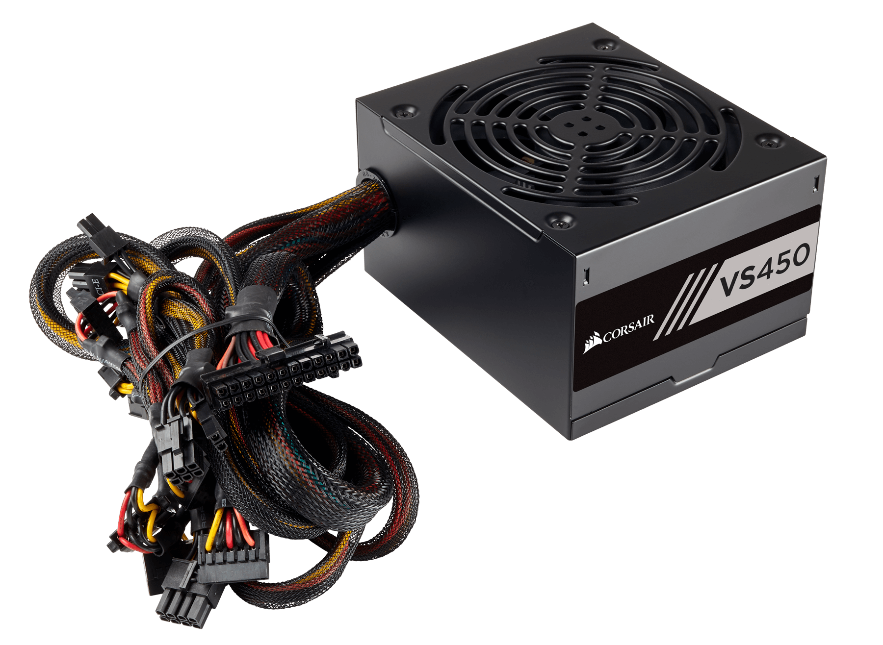 Vs Series Vs450 450 Watt 80 Plus White Certified Psu Uk W Smps Circuit Diagram Black Cables Cable Sleeving And Connectors Make It Easy To Build A Great Looking Pc While Super Compact 125mm Deep Housing Fits In Almost Any Modern