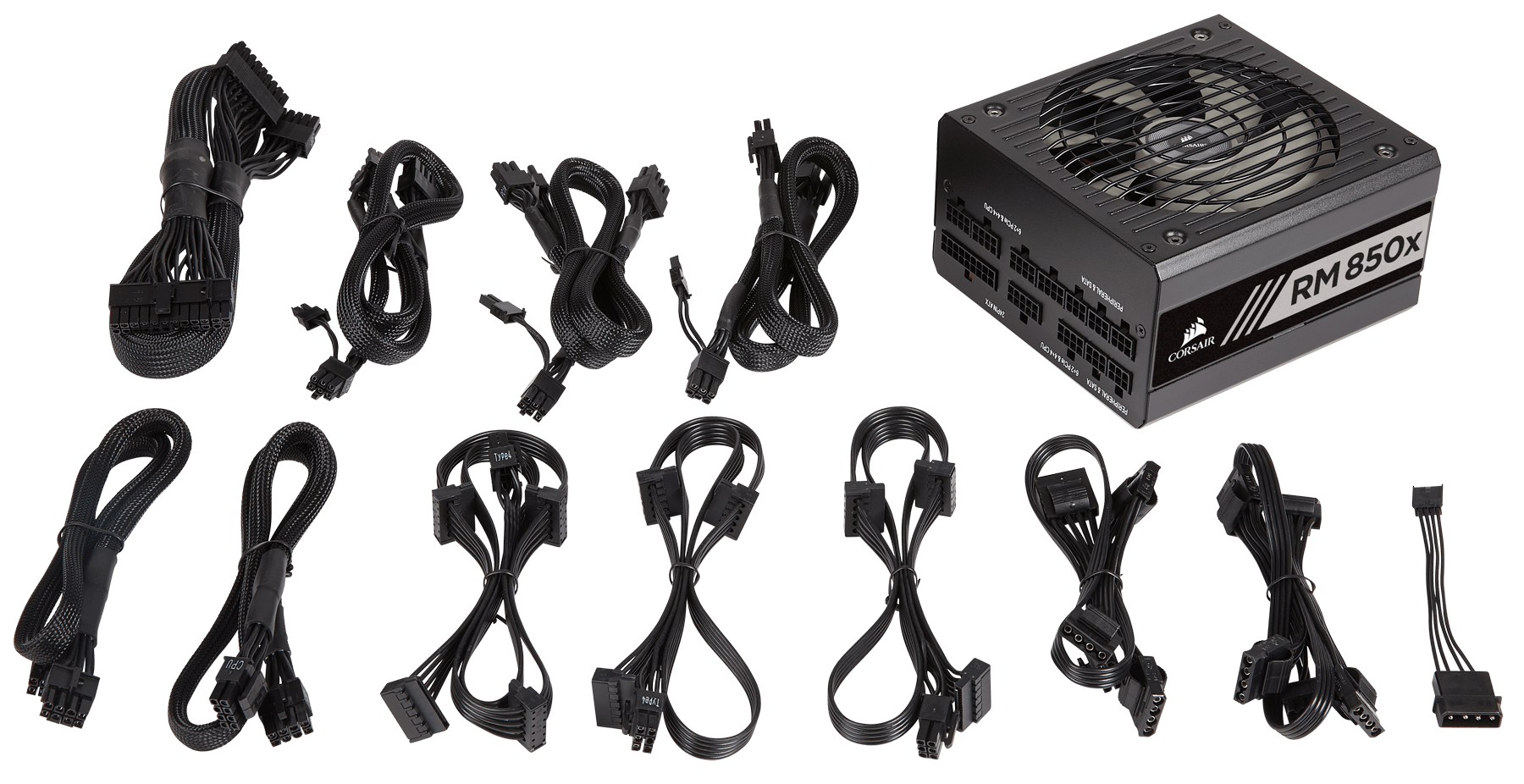 Modular cables help in easy and clean building of the Corsair RM850x PSU.