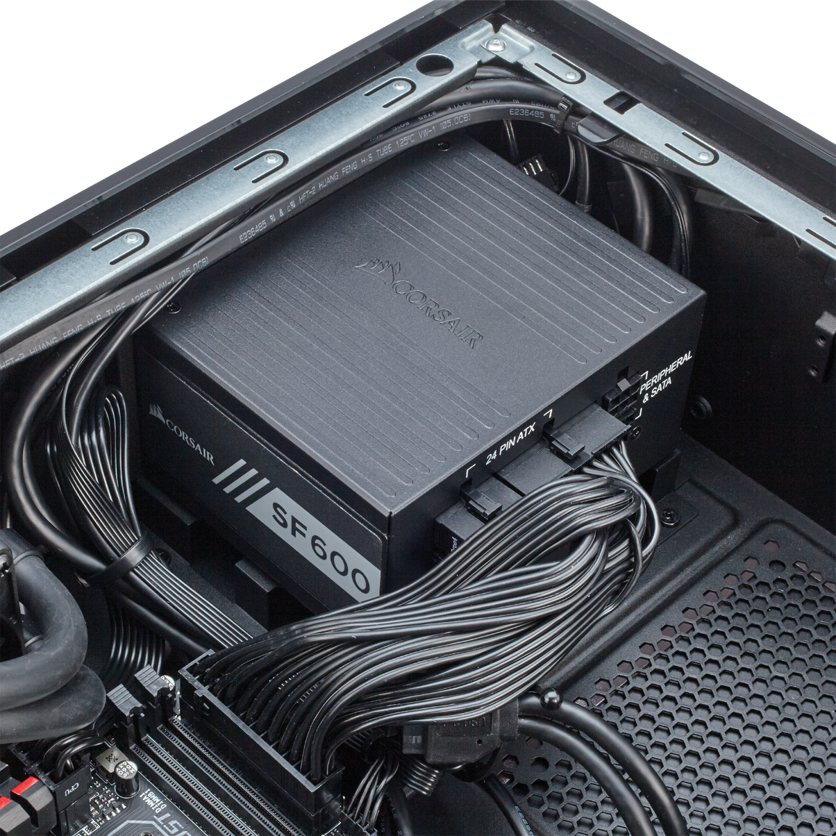 BULLDOG is powered by our SF600 SFX power supply.