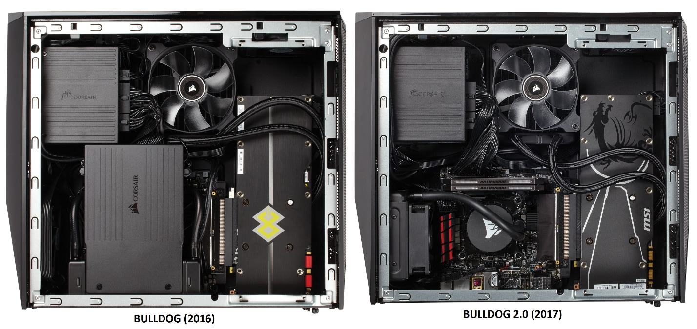 A fully built BULLDOG 1.0 and BULLDOG 2.0