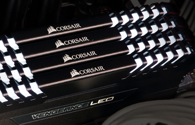 Corsair performance DRAM features built-in XMP settings to unlock the rated speed of the memory kit through system BIOS.
