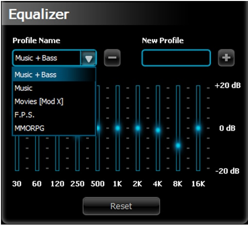 Corsair Keyboard Equalizer