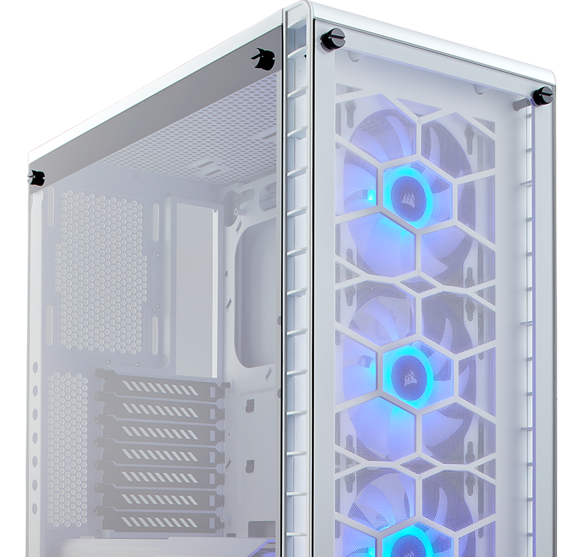 Corsair Crystal Series 460X RGB Compact ATX Mid-Tower Case — White Computer Cabinet
