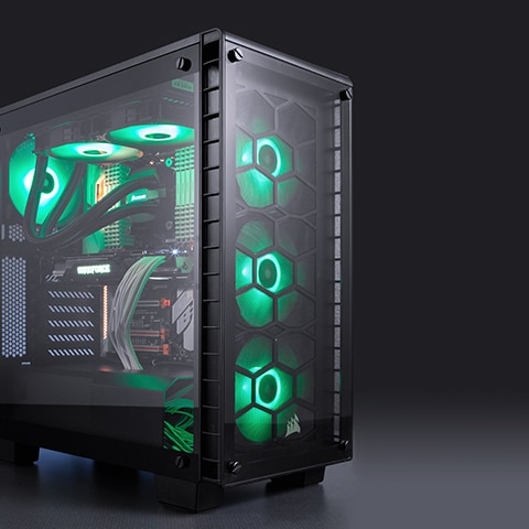 Crystal 460x Rgb Compact Mid Tower Atx Case Clearly Cool