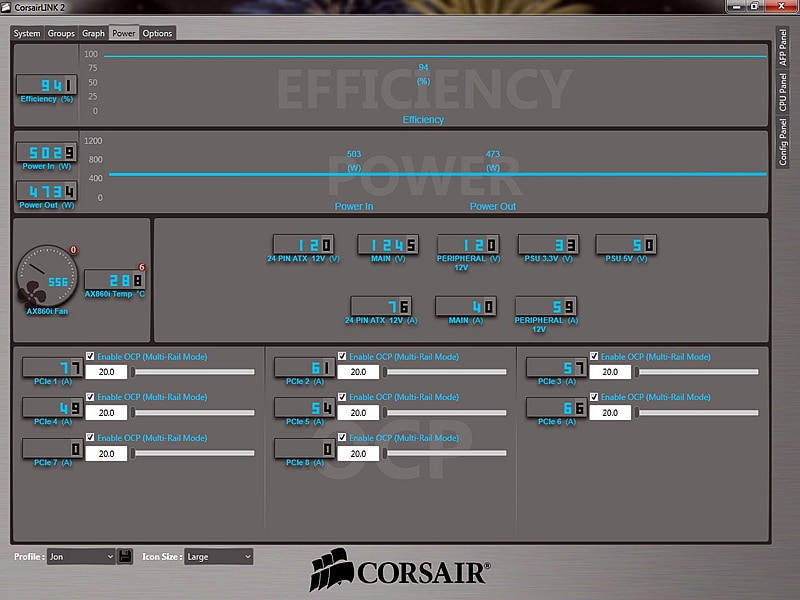 Using Link with a Corsair AXi Digital Power Supply