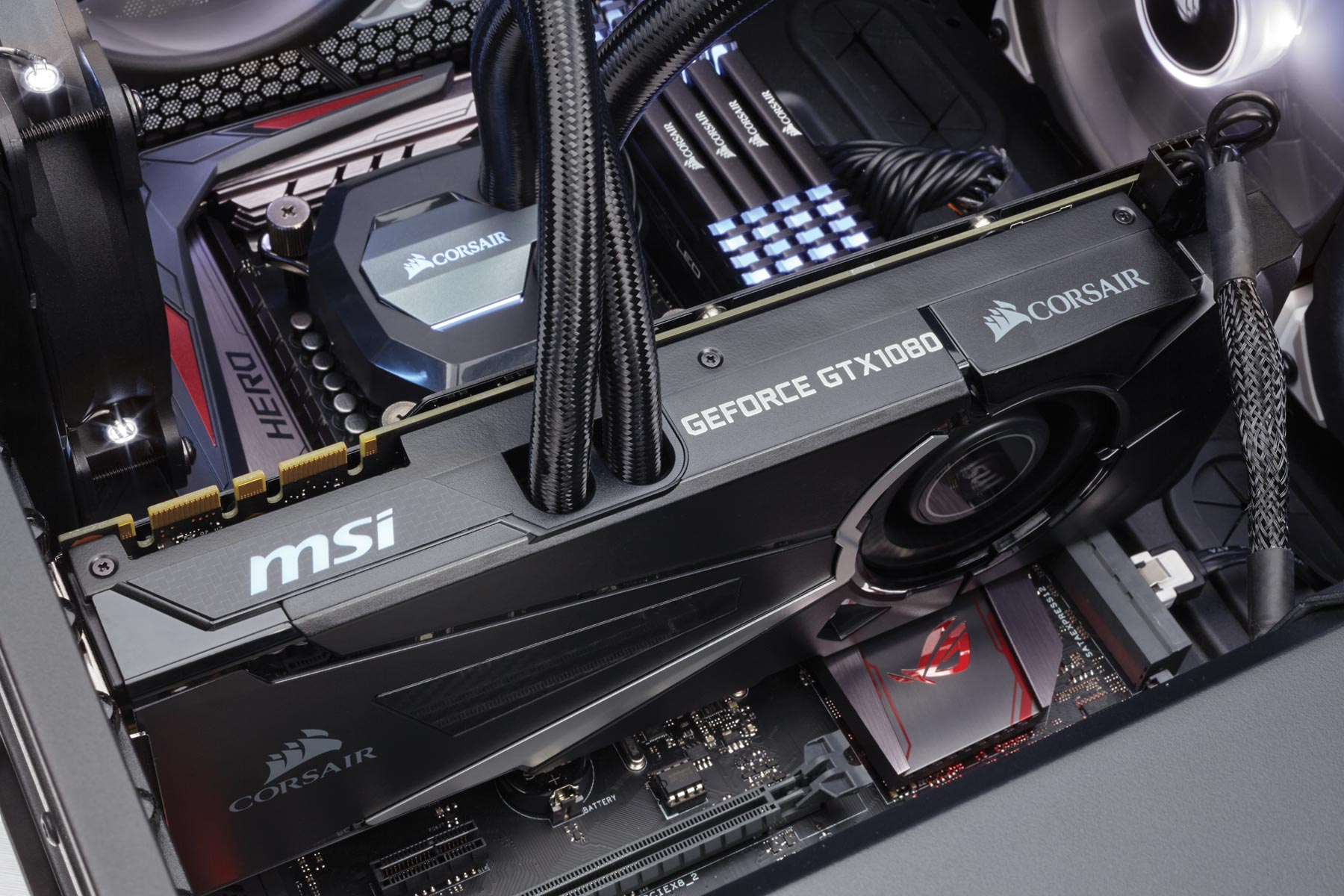 All-in-one GPU liquid cooling package from MSI and CORSAIR