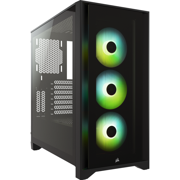 iCUE 4000X RGB Tempered Glass Mid-Tower ATX Case — Black