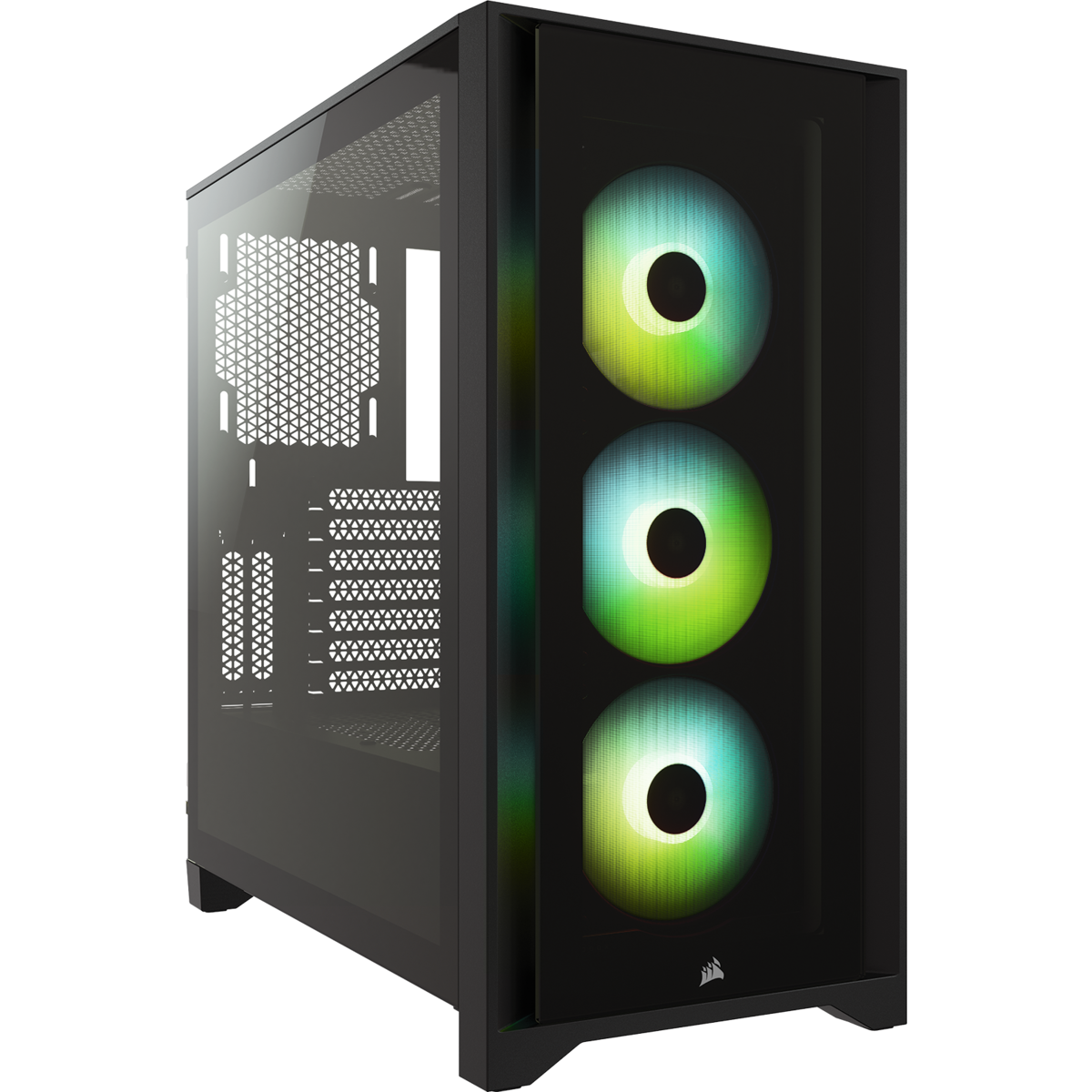 Corsair iCUE 4000X RGB Tempered Glass Mid-Tower ATX Case — Black 20