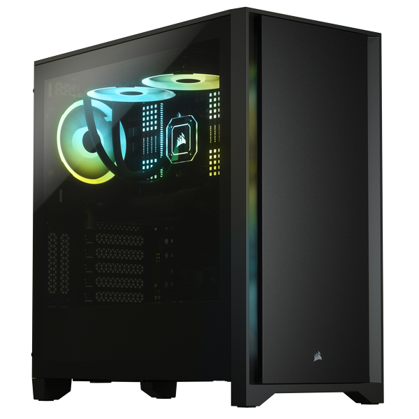 4000D Tempered Glass Mid-Tower ATX Case — Black