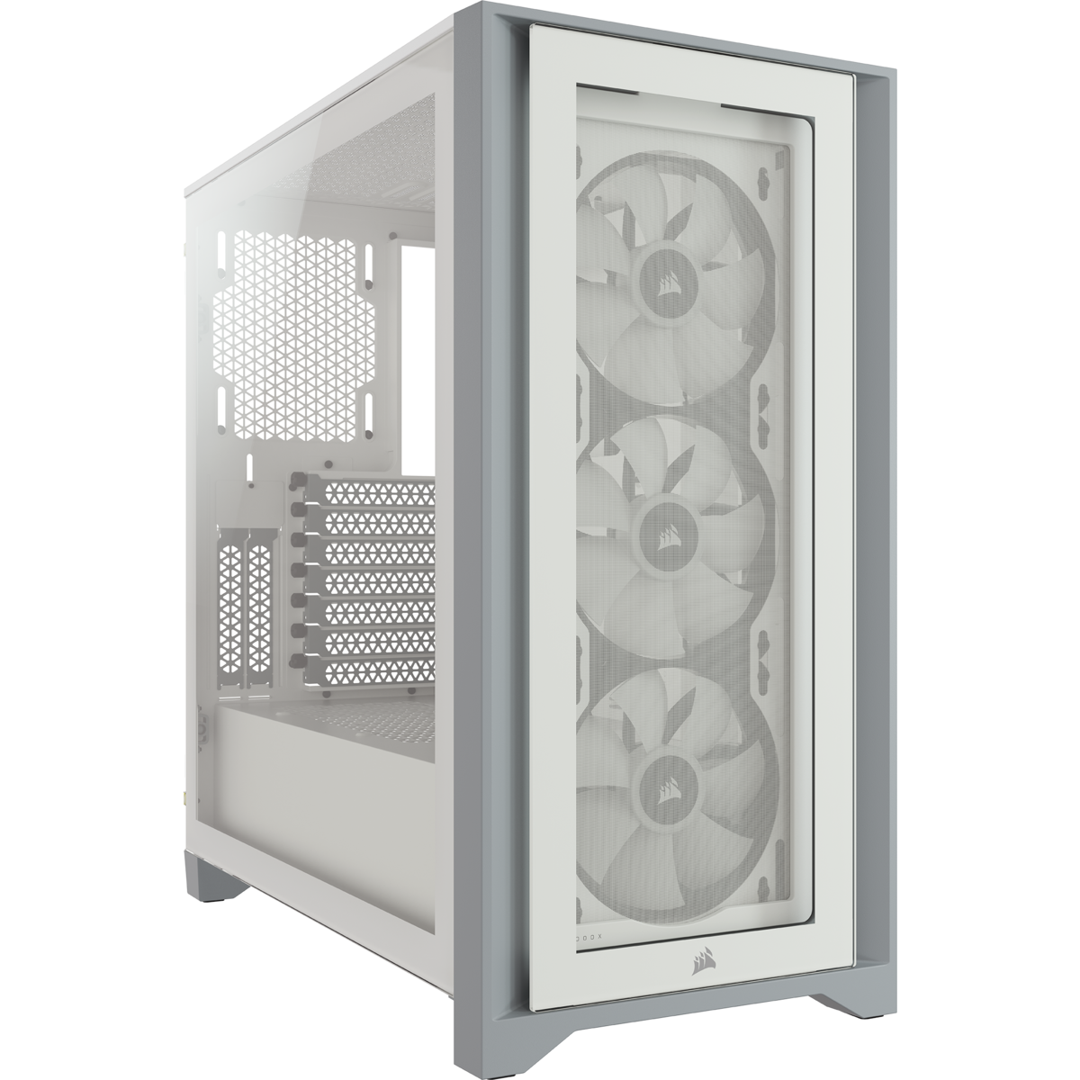 Corsair iCUE 4000X RGB Tempered Glass Mid-Tower ATX Case — White 16