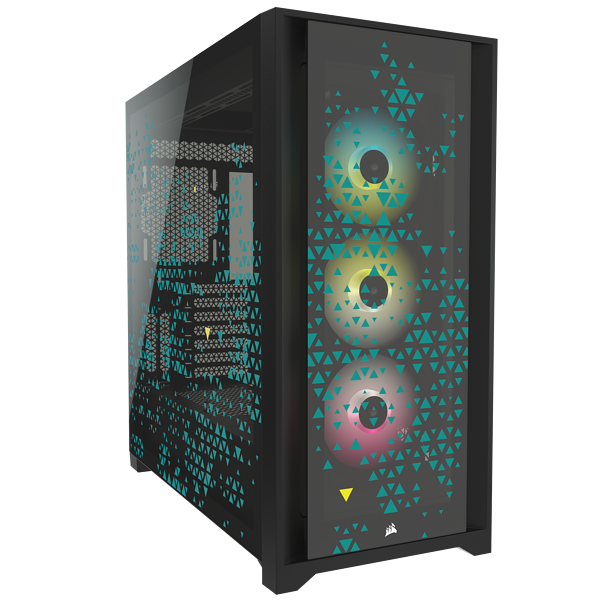 iCUE 5000X RGB SIGNATURE SERIES Mid-Tower Smart Case — Triptych