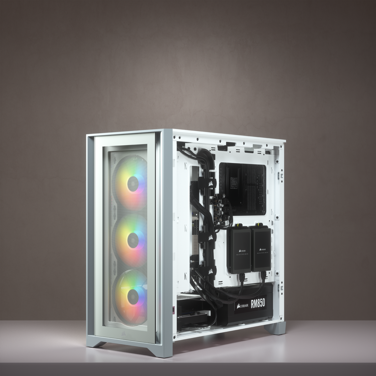 Corsair iCUE 4000X RGB Tempered Glass Mid-Tower ATX Case — White 23