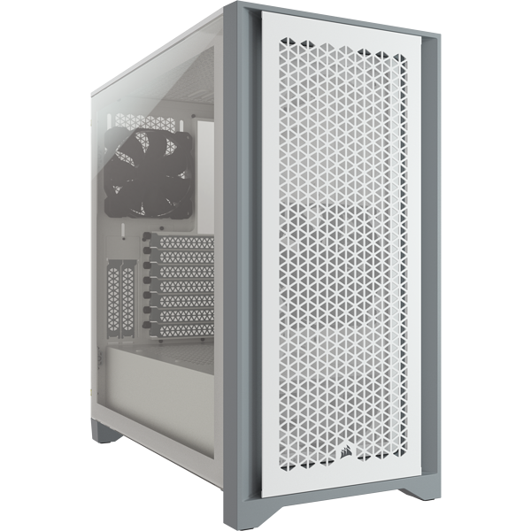 4000D AIRFLOW Tempered Glass Mid-Tower ATX Case — White