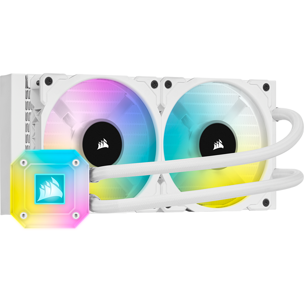 iCUE H100i ELITE CAPELLIX Liquid CPU Cooler — White