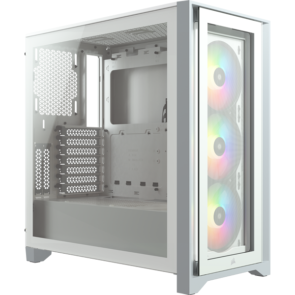iCUE 4000X RGB Tempered Glass Mid-Tower ATX Case — White