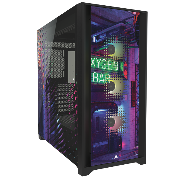 iCUE 5000X RGB SIGNATURE SERIES Mid-Tower Smart Case — Neon Night