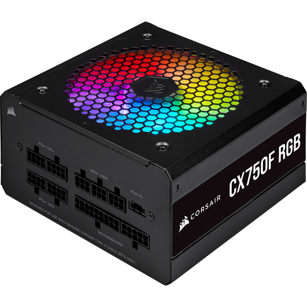 CX Series™ CX750F RGB — 750 Watt 80 Plus® Bronze Certified Fully Modular RGB PSU (EU)