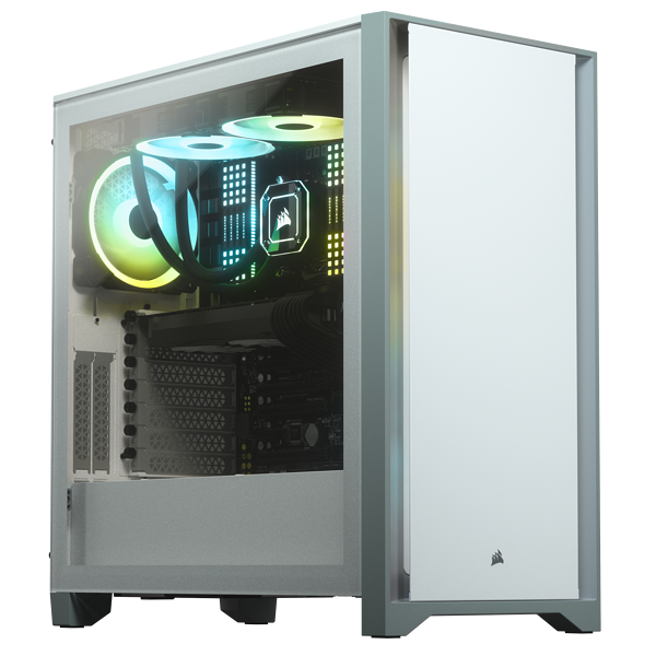 4000D Tempered Glass Mid-Tower ATX Case — White