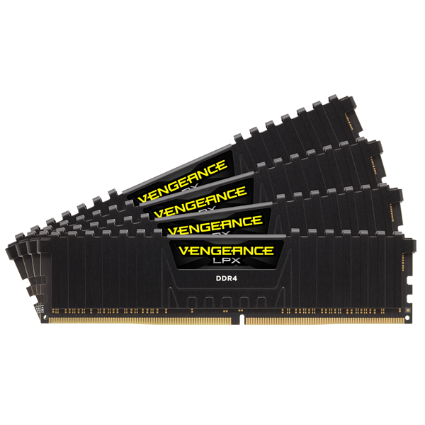 VENGEANCE® LPX 64GB (4 x 16GB) DDR4 DRAM 3200MHz C16 Memory Kit - Black