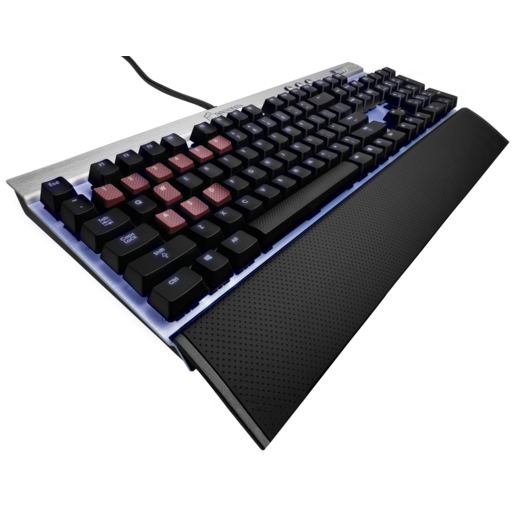 VENGEANCE® K70 Fully Mechanical Gaming Keyboard Silver — CHERRY® MX Red