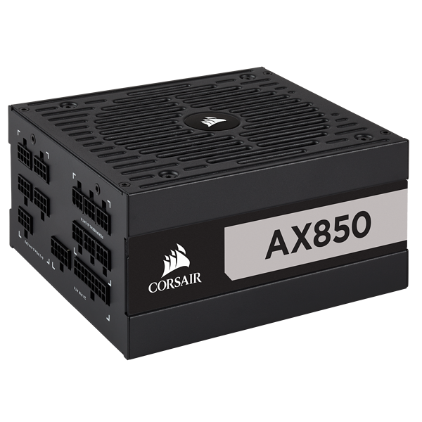 AX Series™ AX850 — 850 Watt 80 PLUS® Titanium Certified Fully Modular ATX PSU (EU)