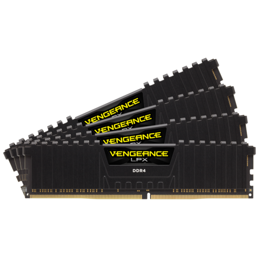 VENGEANCE® LPX 64GB (4 x 16GB) DDR4 DRAM 2400MHz C14 Memory Kit - Black