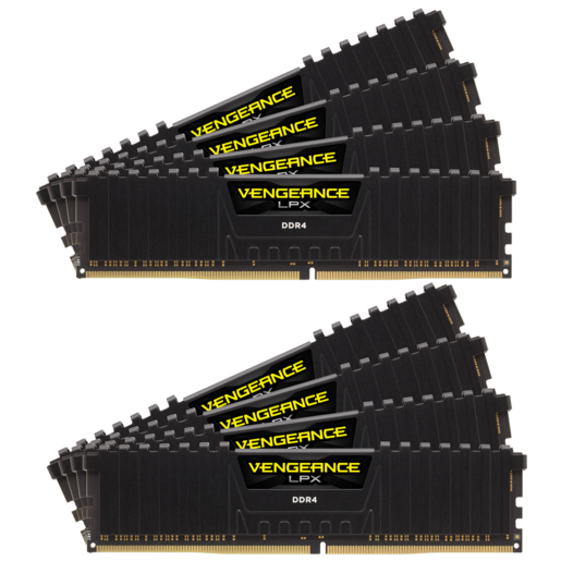 VENGEANCE® LPX 128GB (8 x 16GB) DDR4 DRAM 3800MHz C19 Memory Kit - Black