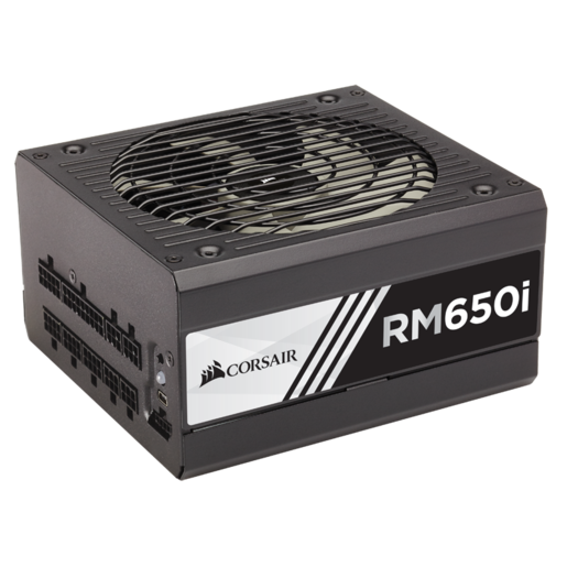 RMi Series™ RM650i — 650 Watt 80 PLUS® Gold Certified Fully Modular PSU (EU Plug)