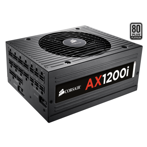 AX1200i Digital ATX Power Supply — 1200 Watt 80 PLUS® PLATINUM Certified Fully-Modular PSU (EU Plug)