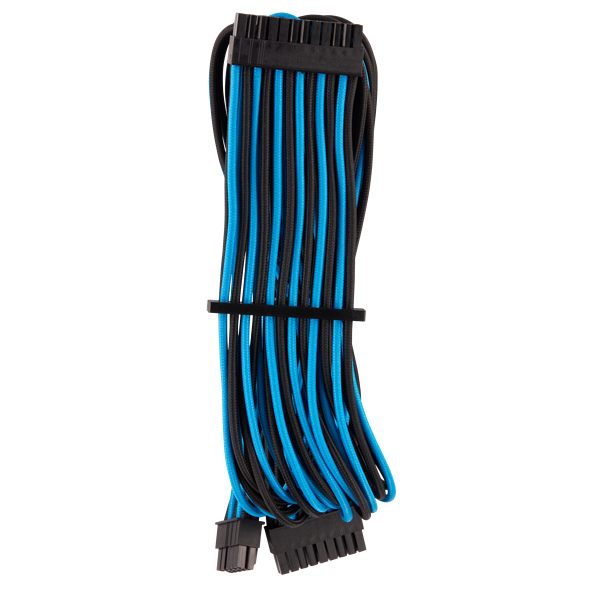 Premium Individually Sleeved ATX 24-Pin Cable Type 4 Gen 4 – Blue/Black