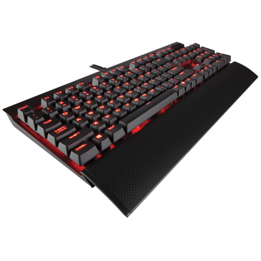 K70 LUX mechanische Gaming-Tastatur – Rote LED – CHERRY® MX Red (DE)