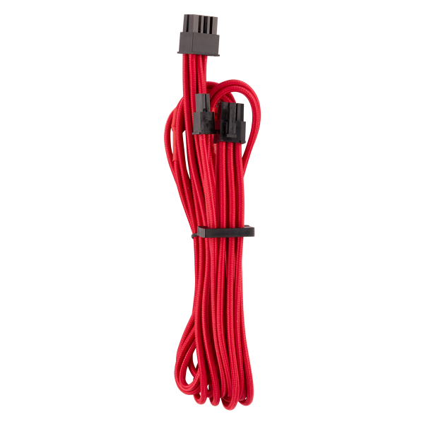 Premium Individually Sleeved PCIe Cables (Single Connector) Type 4 Gen 4 – Red
