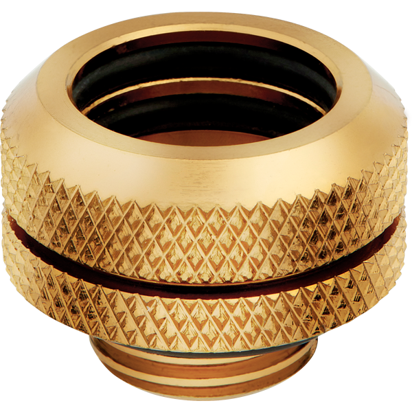Hydro X Series XF Hardline 14mm OD Fitting Four Pack — Gold