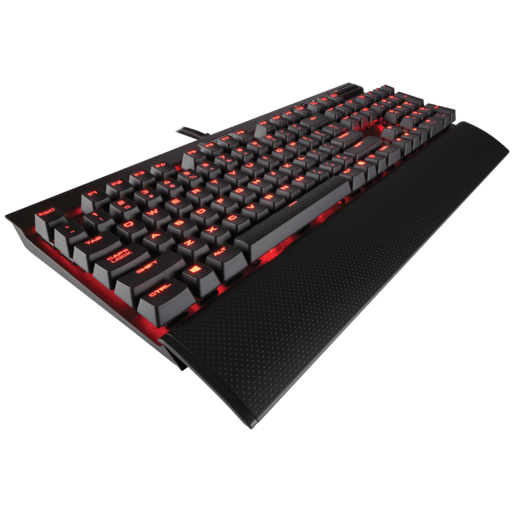 K70 LUX Mechanical Gaming Keyboard — Red LED — CHERRY® MX Blue