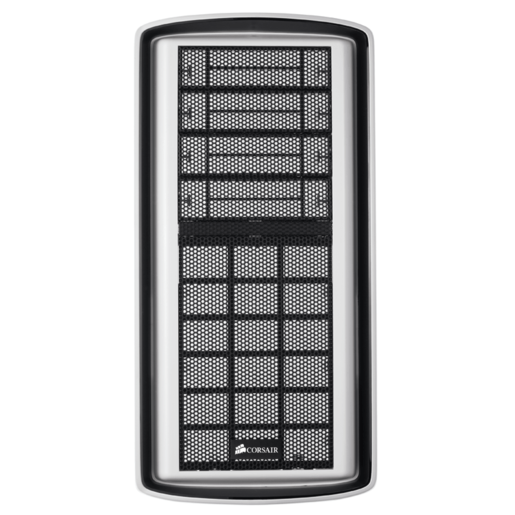 "Graphite Series™ 600T Front Fascia (white) with four (4) 5.25"" bay covers, and front fan filter included"