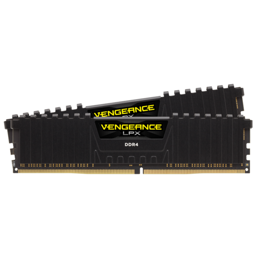 VENGEANCE® LPX 16GB (2x8GB) DDR4 DRAM 3200MHz C16 Memory Kit - Black