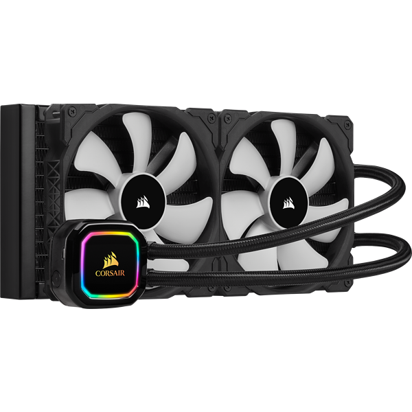 CORSAIR iCUE H115i RGB PRO XT,280mm Radiator,Dual 140mm PWM Fans,Software Control,Liquid CPU Cooler, Refurb