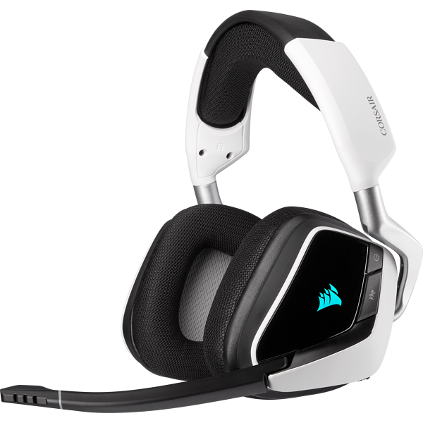 Headset gamer premium sem fio com som surround 7.1 VOID RGB ELITE, Branco
