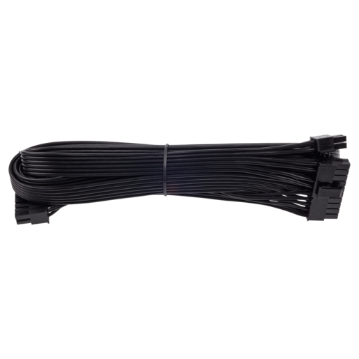 Type 3 Flat Black Ribbon Cable 24pin ATX, Compatible with all type 3 pin out PSU