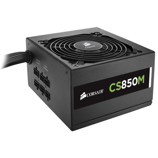 CS Series™ Modular CS850M — 850 Watt 80 PLUS® Gold Certified PSU (EU Plug)