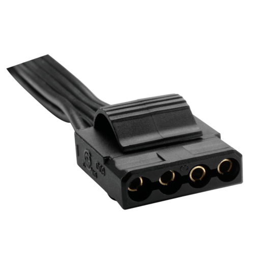 HX/TXM Series™ Molex peripheral cable with 4 connectors compatible with HX750, HX850, HX1000, HX1050, and all TXM PSU